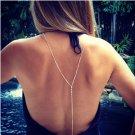 x214 Women Gold color Beach Bikini Crystal Chain Necklace 2017 Sexy Summer