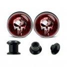 1 Pair Skull Acrylic Ear Plugs And Tunnels Ear Gauges Piercings Expander St