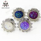 2016 hot selling 2pcs stone design ear piercings tunnel  plugs body jewelry