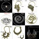 Showlove 2pcs Fashion Brass Tribal Indian Antique Ear Studs Dangling Large