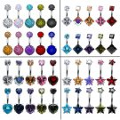 10 Pcs/Lot Sexy Women Stainless Steel Belly Button Rings 4 Style Mixd Color