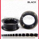 Wholesale 48 Pcs/lot Mix 12 Size  Body Jewelry Black Silicone Flesh Tunnel