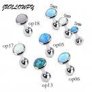 1pcs Women New Silver Opal Cartilage Stud Earring Tragus Helix ear Piercing