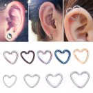 5 pcs/lot Fake Ear Piercing Tragus Heart Piercing Earrings Cartilage Pierci