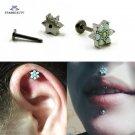 1.2*6/8mm Opal Labret Jewelry Flower Ear Tragus Stud Cartilage Earring Labr