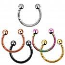 10PCS Colorful  Steel Horseshoe  Nose Septum Rings Ear Rings Body Piercing