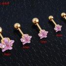 2pc/lot Surgical Stainless Steel pentagrams Stud Earring Shape Ear Fake Tap