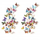 Prefer Green 48 PCS 3D Colorful Butterfly Wall Stickers DIY Art Decor Crafts