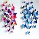 Magnets12Pcs 3D Butterfly Wall Sticker Fridge Magnet Home Decor Art Applique New