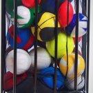 Ball Locker Storage Organizer Container Compact Gym Training Room Portable New
