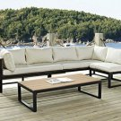 Outdoor All-Weather 4-Piece Patio Chat Set - Black