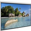 100'' 16:9 87'' x 49'' Viewing Area Manual Projector Screen Matte White