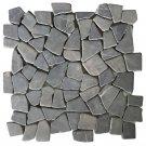 """Mosaic Tiles 11 Pcs Marble Black 11.8""""X11.8""""X0.3"""" Flooring"""
