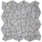 "Mosaic Tiles 11 Pcs Marble Gold 11.8""X11.8""X0.3"" Stone Tile"