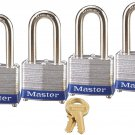 Master Lock 3QLF Keyed-Alike Padlock, 1-9/16-inch Wide 1-1/2-inch Shackle,