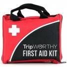 Compact First Aid Kit For Medical Emergency - For Home, Car, Camping, Hiking, -