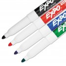 EXPO Low Odor Dry Erase Marker, Fine Point, Assorted, 4/Set