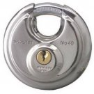 Master Lock 40DPF Round Padlock With Shielded Shackle, 2-3/4-inch, Stainless
