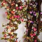 Artificial Rose Garland Silk Flower Vine Valentine Wedding Garden Decoration New