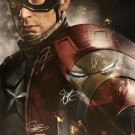 CAPTAIN AMERICA CIVIL WAR Signed Movie Poster