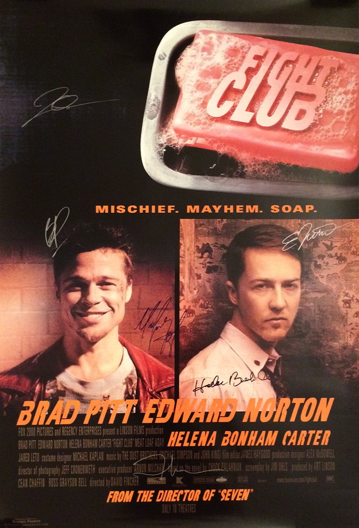 FIGHT CLUB SIGNED POSTER