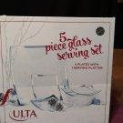Brand New Ulta Beauty 5 Piece Glass Serving Set plates