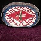 Coke Drink Coca-Cola Retro Sign Galvanized Steel Tin Serving Tray Green Bottle