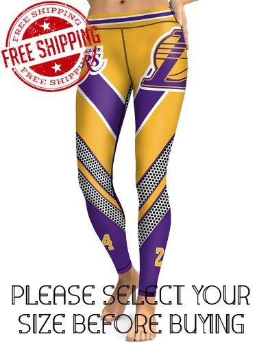 Los Angeles Lakers Basketball Team Sports Leggings