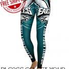 Philadelphia Eagles Football Team Sports Leggings