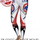 Chicago Cubs Baseball Team Sports Leggings