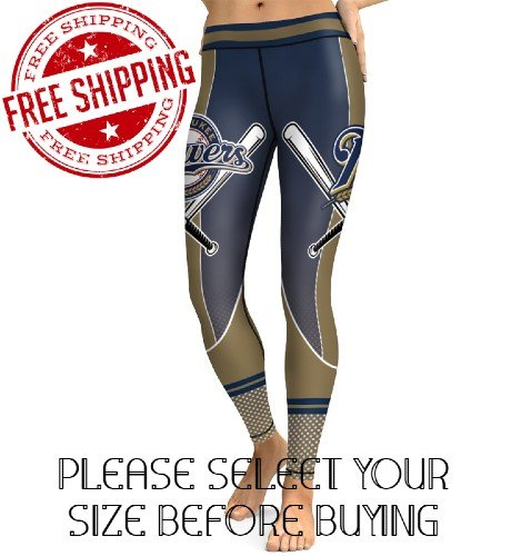 Milwaukee Brewers Baseball Team Sports Leggings