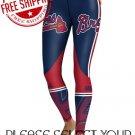 Atlanta Braves Baseball Team Sports Leggings