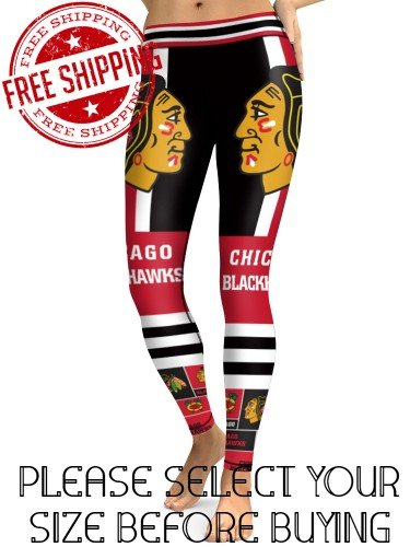 Chicago Blackhawks Hockey Team Sports Leggings