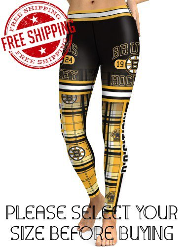 Boston Bruins Hockey Team Sports Leggings