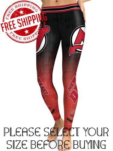 New Jersey Devils Hockey Team Sports Leggings