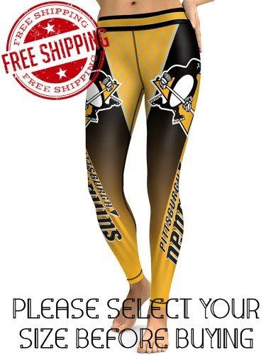 Pittsburgh Penguins Hockey Team Sports Leggings