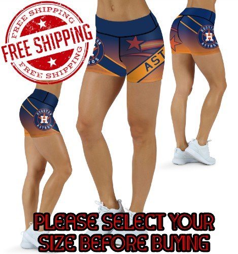 Houston Astros Baseball Team Sports Shorts