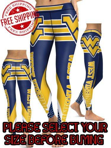 American University West Virginia Mountaineers College Team Sports Leggings