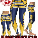 American University West Virginia Mountaineers College Team Sports Leggings