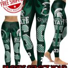 American University Michigan State Spartans College Team Sports Leggings