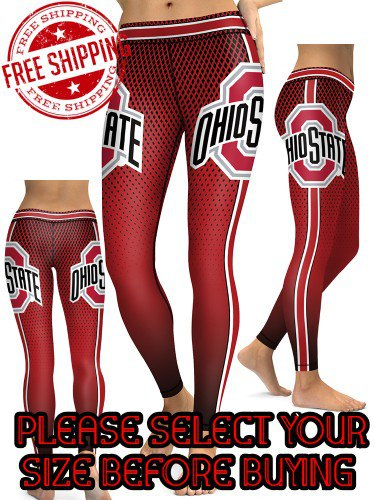 American University Ohio State Buckeyes College Team Sports Leggings