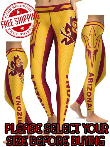 American University Arizona State Sun Devils College Team Sports Leggings