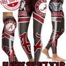 American University  Alabama Crimson Tide College Team Sports Leggings