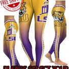 American University LSU Tigers  College Team Sports Leggings