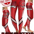American University NC State Wolfpack College Team Sports Leggings