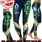 American University Notre Dame Fighting Irish College Team Sports Leggings