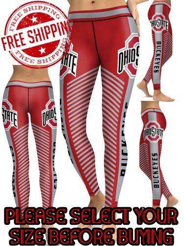 American University Ohio State Buckeyes College Team Sports Leggings