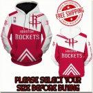 Houston Rockets Basketball Team Sport Hoodie