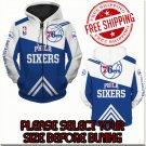 Philadelphia 76ers Basketball Team Sport Hoodie With Zipper