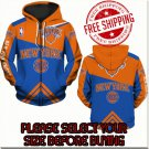 New York Knicks Basketball Team Sport Hoodie With Zipper